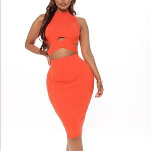 One For All Ribbed Skirt Set